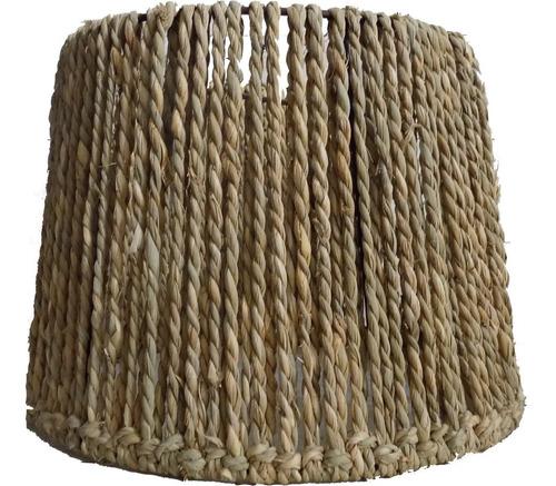 Lámpara De Hierro Y Fibra Natural Rustica Ideal Barbacoa