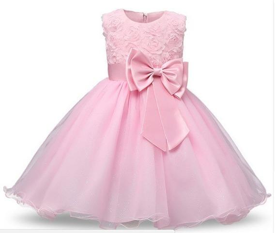 Vestido Fiesta Bautismo Nena Cortejo Comunión Princesa