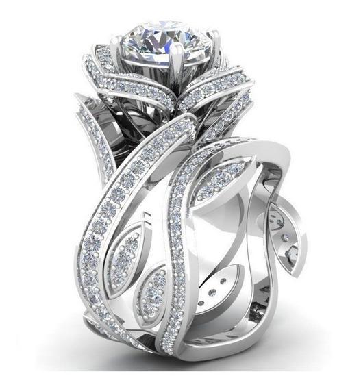 Anillo Vintage White Rose Ak Jewelry