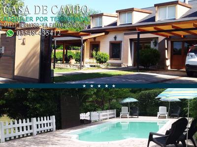 Casa En Alquiler Temporario - La Falda Sierras Córdoba
