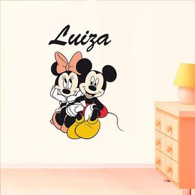 c8645cca80 Adesivo De Parede Mickey E Minnie - Adesivo Infantil Quarto