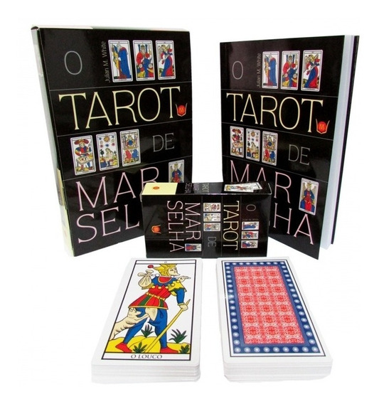 Taro De Marselha Livro + Baralho 78 Cartas-brinde Mini Bara