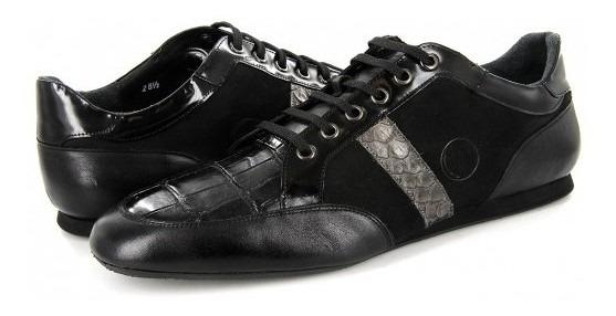 Zapatos Cuadra 38kl Pri Alogator / Res Negro Caiman 25-31 Ca