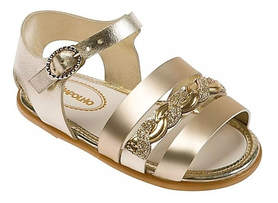 Sandália Infantil Pimpolho Princesa Dourada 008411