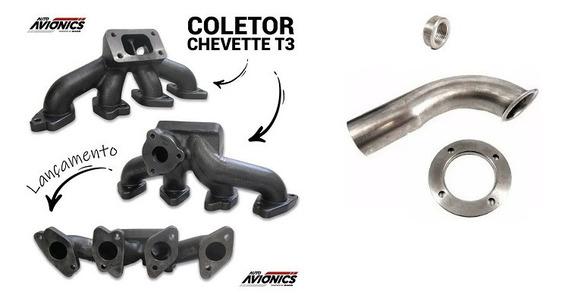 Coletor Escape Turbo Motor Ohc Chevette C/ Curva De Escape