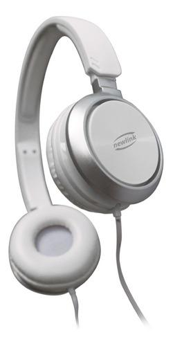 Fone De Ouvido Com Microfone Newlink Premium Hs115 Branco