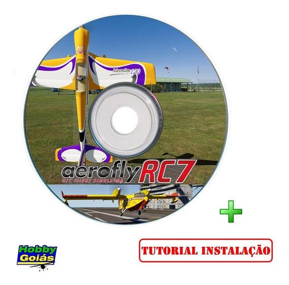 Simulador Aeromodelo Aerofly Rc7 Ultim + Tutorial Hobbygoiás