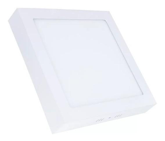 Plafon Quadrado Sobrepor Painel Lampada Led Branco Frio 24w