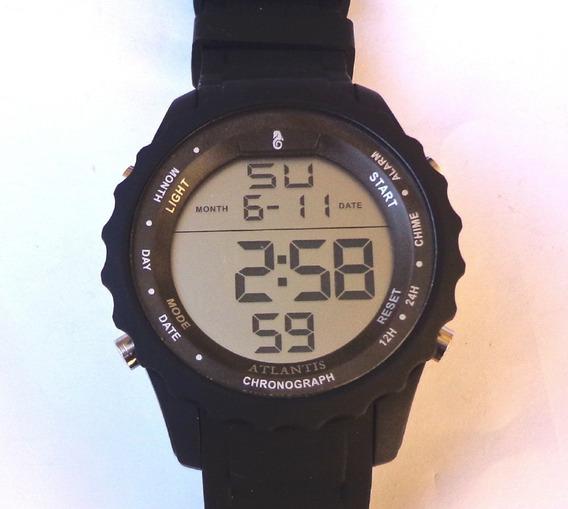 Relógio Digital Masculino Esportivo Prova Dágua Atlantis A74