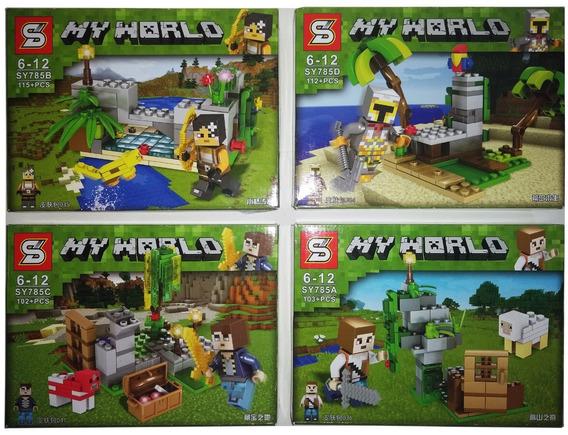 Lego Minecraft 432+peças Kit 4 Modelos Diferentes 4 Em 1