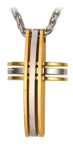 Corrente Masculina Colar Banhado Ouro Dourado Cordão Inox