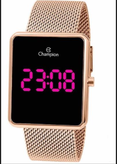 Relógio Champion Led Digital Lançamento Rose