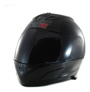 Casco Integral Power Máx Homologado - Negro Brillos - Solid