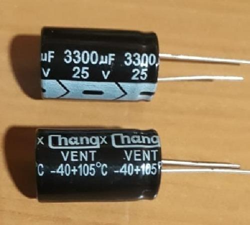 Puntotecno - Condensador Capacitor Electrolitico 3300uf 25v