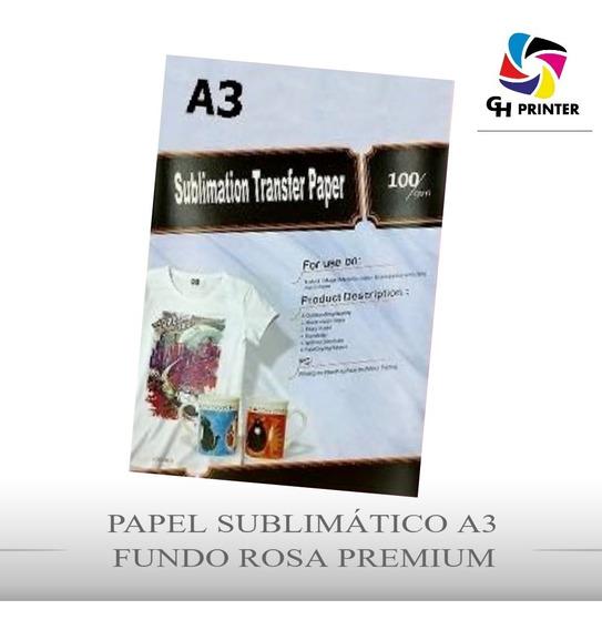 Papel Sublimático Fundo Rosa A3 100 Folha Mecolour Original