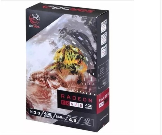Placa De Video Pcyes Rx 580 4gb Ddr5 256bit Py580rx25604d5