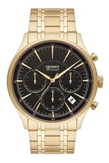 Relógio Orient Mgssc025-p1kx Dourado Mostrador Preto