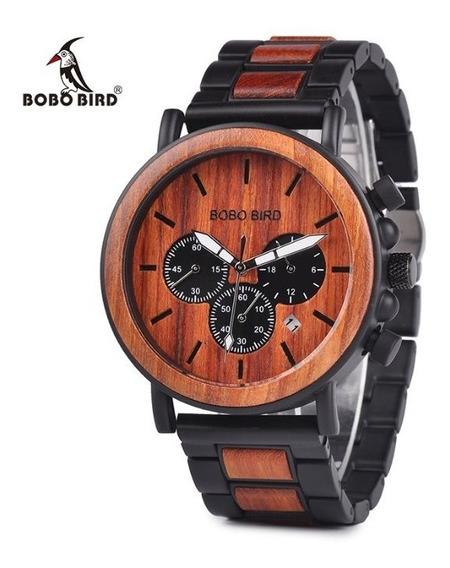 Reloj De Madera Bobo Bird Original Rojo