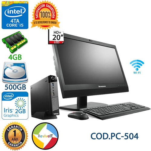 Mini Computadora Core I5 4ta Cuarta Gn Led 20 Dell Hp Lenovo