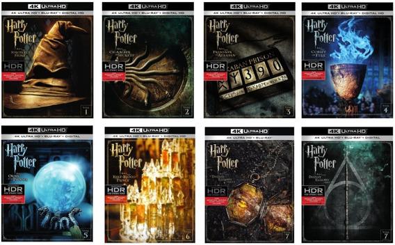 Harry Potter 4k Ultra Hd + Bluray Coleccion Completa 1 - 8