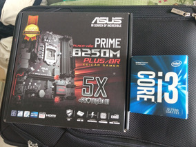 Kit Processador I3 7100 E Placa Asus Prime B250m Plus