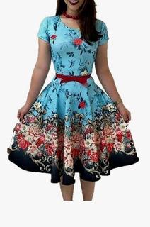 Vestido Midi Moda Evangélica Boneca Rodado Gode Rodado Festa