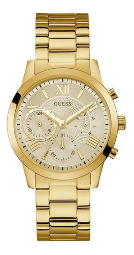 Reloj Para Mujer Guess Solar W1070l2 Color Dorado