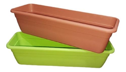 Pack X 3 Maceta Jardinera De 50 Cm Plastico Reforzado Grande