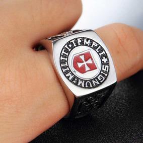 Anéis De Aço Inoxidável Templário Alcantara Baviera Pedreir