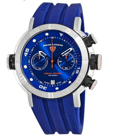 Swiss Legend Sl-10622sm-03-bb-bls Cronógrafo Blue Dial 52mm