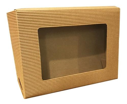 10 Cajas Cartón Microcorrugado Visor Souvenir N105 19x25,5x5