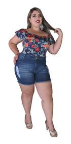 Short Bermuda Jeans Feminino Plus Size Das Mães - Liquidação