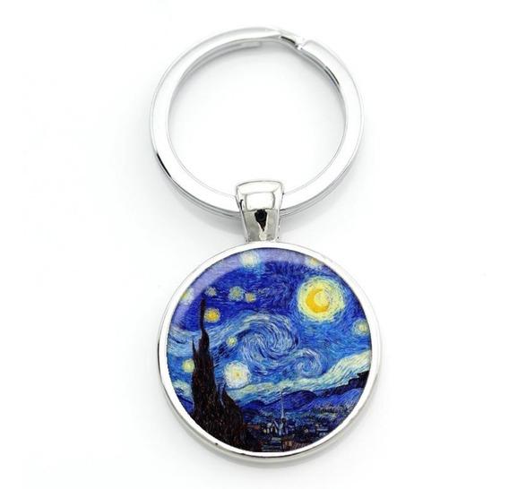 Llavero de la noche estrellada de Van Gogh The Starry Night