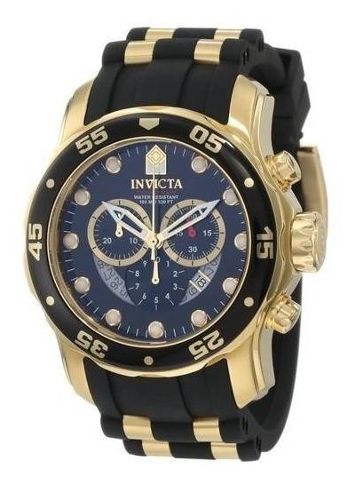 Relógio Invicta Masculino 6981 Banhado A Ouro 18k