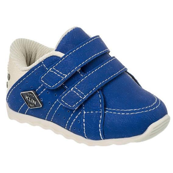 Sapato Masculino Infantil Klin Cravinho Casual Azul