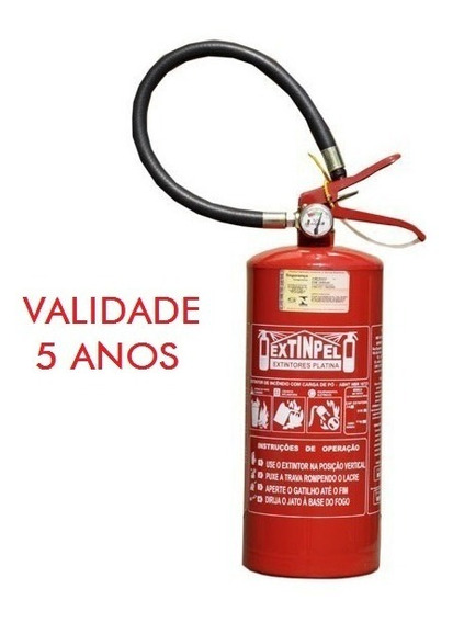 Extintor Pqs Abc 4 Kgs 2a 20bc Val. 5 Anos + Nf-e C/ Suporte