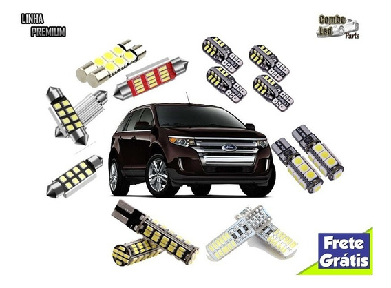 Kit Lâmpadas Led Ford Edge Super Brancas Efeito Xenon