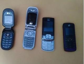 Lote 4 Celulares Lg Mg225d Mg230d Kf245 Motorola W230