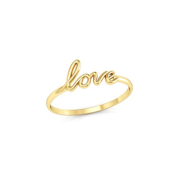 Anel Love Ouro 18k Coleção Inspirações