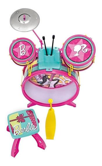 Bateria Infantil Da Barbie - Fun
