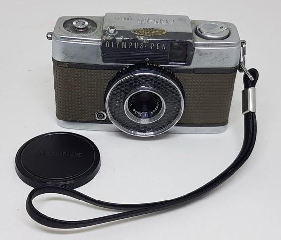 Câmera Fotografica Vintage Olympus Pen Made Japan Com Capa