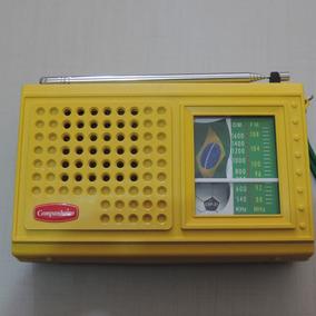 Rádio Receptor Portátil Crp-21b 2 Faixas Am Fm Frete Grátis