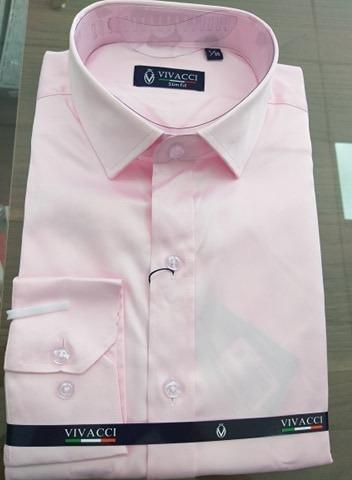 Camisa Rosa Claro Vivacci Super Promoção Jjota Confecções