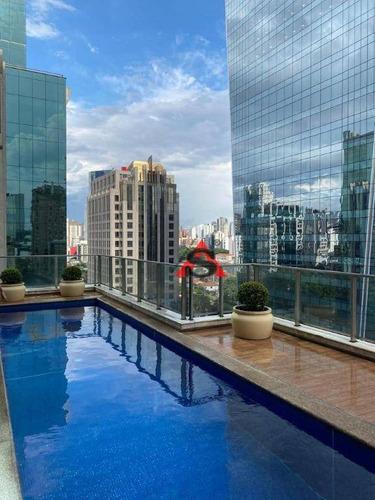 Apartamento Com 2 Dormitórios Para Alugar, 100 M² Por R$ 12.500,00/mês - Itaim Bibi - São Paulo/sp - Ap43191