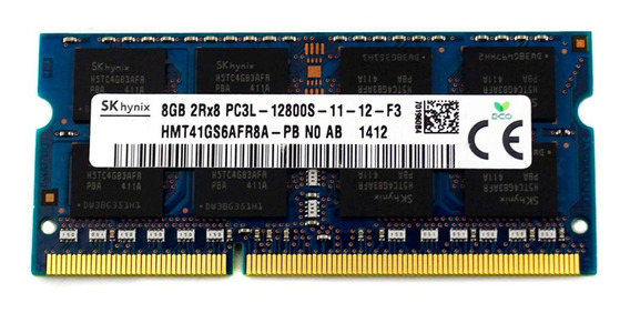 Memoria Notebook 8gb Hynix Pc3l-12800s Ddr3-1600mhz 1.35v