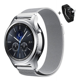 Pulseira Samsung Gear S3 Metal Milanesa Frontier + Película