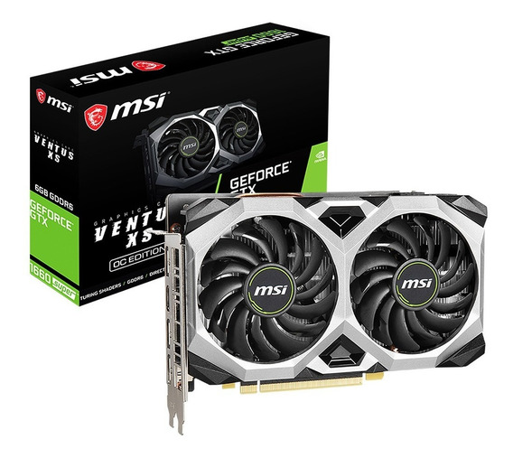Placa Video Msi Geforce Gtx 1660 Super Ventus Xs Oc 6gb Gddr