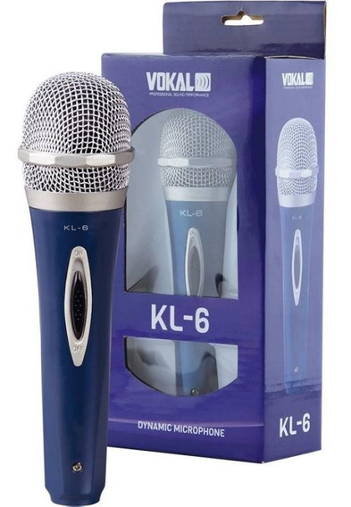 Microfone De Mão Com Fio Vokal Kl-6