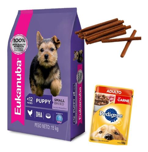 Imagen 1 de 2 de Eukanuba Cachorro Razas Pequeñas 15 Kg Con Paté Premium 300g