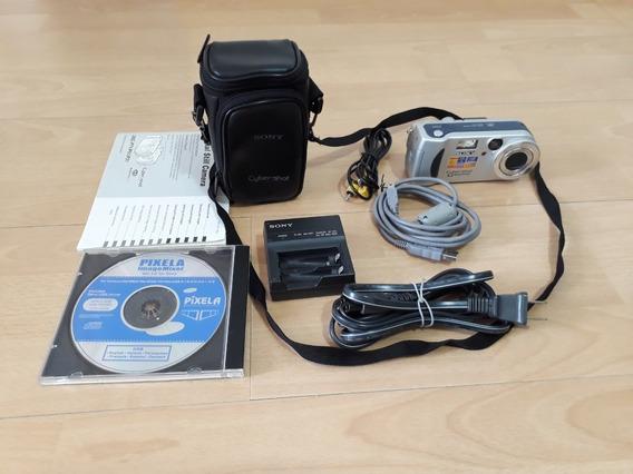 Linda Câmera Sony Cyber-shot Dsc-p71 Com Bolsa E Carregador